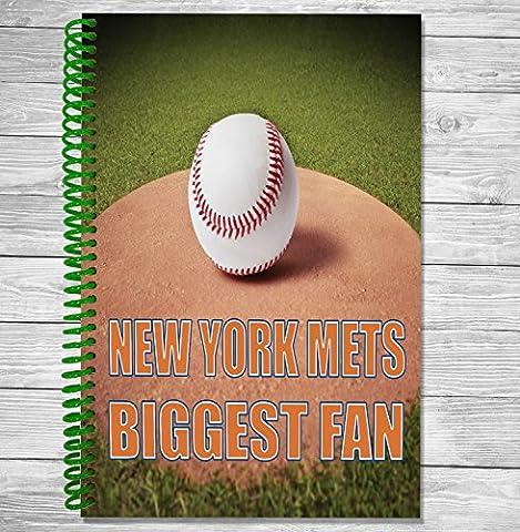 New York Mets Biggest Fan–A5Baseball ordinateur portable/bloc-notes/bloc de dessin
