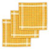 KRACHT, 3er-Set Geschirrtuch Frottier Baumwolle vollbunt gelb, Edition...