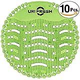 Uri-Fresh Urinalsieb und Geruchsentferner (Apfel) 3.0 Urinal-Matte, Grüner Apfel, 10 Stück