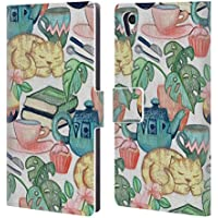 Official Micklyn Le Feuvre Lazy Afternoon A Chalk Pastel Illustration Patterns 2 Leather Book Wallet Case Cover For Sony Xperia Z5 / Z5 Dual