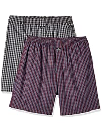 Jockey Men's Cotton Boxer Shorts with SIDE POCKETS (Pack of 2)