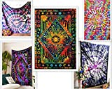 Future Handmade 5 Twin Tie Dye Tapestries Printed Tapestry Wall Hangings Wall decor Beach Throw Wholesale Tapestry Mandala Tie Dye Tapestry Bohemian Hippie Home Decor Bedspreads
