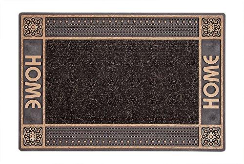 CarFashion PUR|DualClean Design Fussmatte - Schmutzfangmatte - Sauberlaufmatte - Eingangsmatte für Innen und Aussen, TPE-VC 100{317dfa236b8fc69697662f098573ed1321285e54824a22dcb4385584af1c357f} Nachhaltig, Bronce-Metallic, 59 x 39 cm