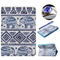 Etsue Samsung Galaxy Tab 4 10.1 inch SM-T530 Case,Leather Case for Samsung Galaxy Tab 4 10.1 inch SM-T530,PU Leather Magnetic Book Flip Wallet Case for Samsung Galaxy Tab 4 10.1 inch SM-T530 with Blue Stylus Pen and Bling Glitter Diamond Dust Plug Colors
