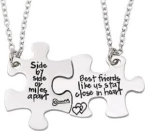 """Melix HOME - Set di collane con ciondolo a forma di cuore, motivo: """"Best Friends"""""""