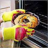 DYOYO Guantes Cocina, Guantes de Horno Profesional Resistentes a Altas Temperaturas hasta de Calor BBQ Guantes para Barbacoa, Cocinar, Hornear, Hornos, Ollas 1 Par