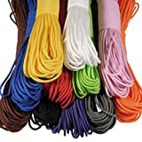 #9: Black 100FT 550lb Nylon Paracord Parachute Cord String Rope for Camping Hiking Survival