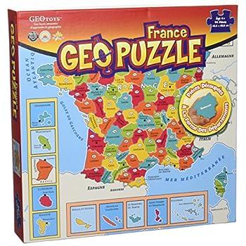 GEOPUZZLE FRANCE DEPARTEMENTALE - 94 pièces 438X438