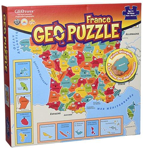 GEOPUZZLE FRANCE DEPARTEMENTALE - 94 pièces 438X438 par Collectif