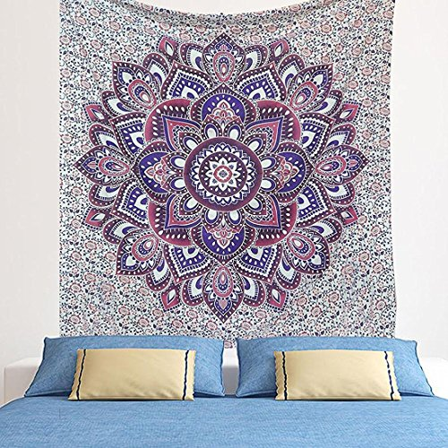 grande-esclusiva-viola-blu-ombre-mandala-tapestry-by-raajsee-bohemian-tapestry-hippy-arazzo-da-appen