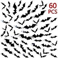 Tuopuda Black 3D DIY Bat Wall Sticker Halloween Decoration Removable Window Decor Halloween Bats Wall Sticker