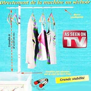 Etendoir à Linge Magnétique - Permet d'étendre jusqu'à 50 chemises, directement de la machine au séchoir.