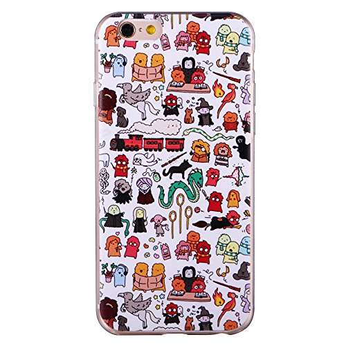 "iPhone 6/6S Coque Gel Souple solide avec impression fantaisie pour Apple iPhone 6/6S (4,7"")(Mountainstree) HarryPotter"