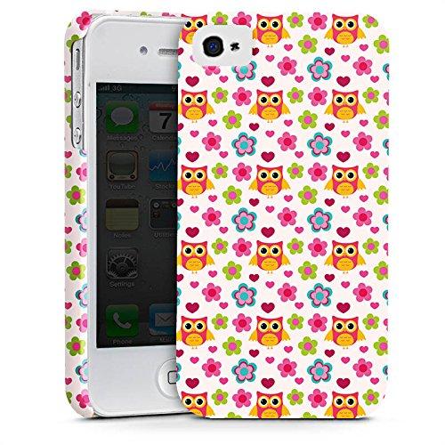 Apple iPhone X Silikon Hülle Case Schutzhülle Eulen Bunt Muster Premium Case glänzend