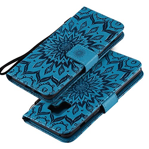 Galaxy A8 Plus 2018 Case  Galaxy A8 Plus 2018 Cover  EINFFHO Samsung Galaxy A8 Plus 2018 Wallet Case Premium PU Leather Flip Case with  Kickstand   Card Slots   Magnetic Closure  Flip Leather Fold Wallet Pouch Case Cover for Samsung Galaxy A8 Plus 2018 A7 2018   Blue