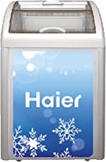 Haier 116 L  Curved Glass Top Freezer