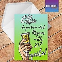 Personalizzato 'Tequila' Divertente/Spoof alcol biglietto d' auguri–qualsiasi testo per tutte le occasioni o eventi–Compleanno/Natale/matrimonio/anniversario/fidanzamento/FATHER' S DAY/Mother' s Day