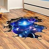 LAONA Creative 3D Sticker (Galaxy des Universums)-blaue Wohnzimmer Boden Decke Aufkleber Schlafsaal Aufkleber Wandbild (60 * 90cm)