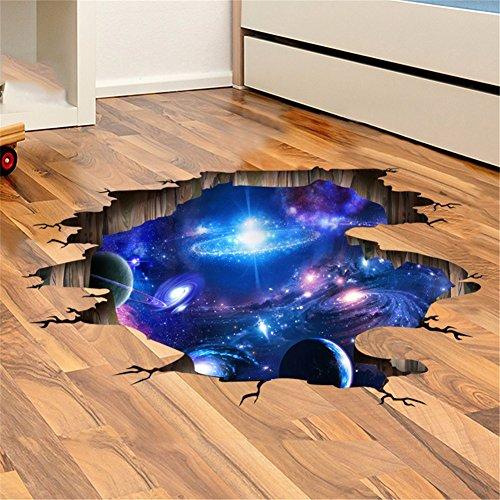 Weihnachts-Dekoration für Halloween 3D/paste Aufkleber (die Milchstrasse Universum) Kreative/Stereo/Boden/Decke Putz einfügen/Wohnzimmer/Schlafsaal/Wandmalerei (113 * 58 cm)