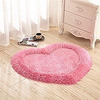 Alfombras, CAMAL Corazón de Seda Estiramiento Alfombra Decorativo Sala Dormitorio y Baño (Rosa)