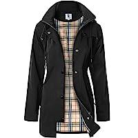SaphiRose PONCHO Women's Long Hooded Rain Jacket Outdoor Raincoat Windbreaker