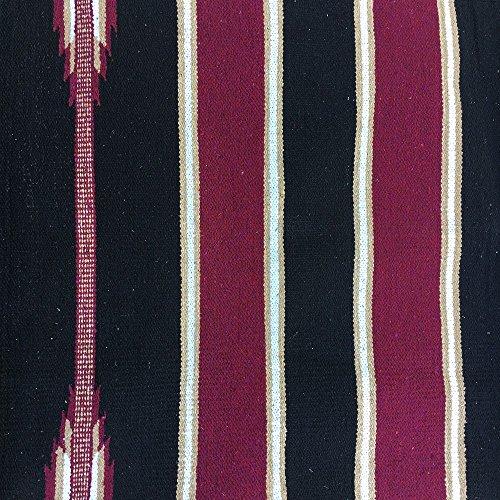 Westerndecke, Westernpad, Navajo Decke, Satteldecke, Sattelunterlage Farbauswahl, Farbe:schwarz/bordeaux/braun