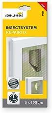 Schellenberg - Cerotto per riparare zanzariere, in fibra di vetro 57000, adesivo, 5x 100cm, colore: antracite, 1pezzo