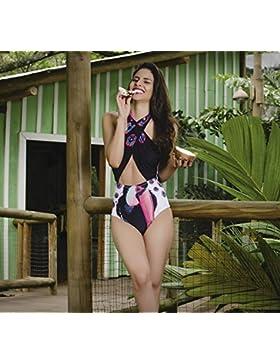 Traje de baño de una sola pieza _ sello flamenco es moderno y cómodo bikini cintura alta también dividir bañador...