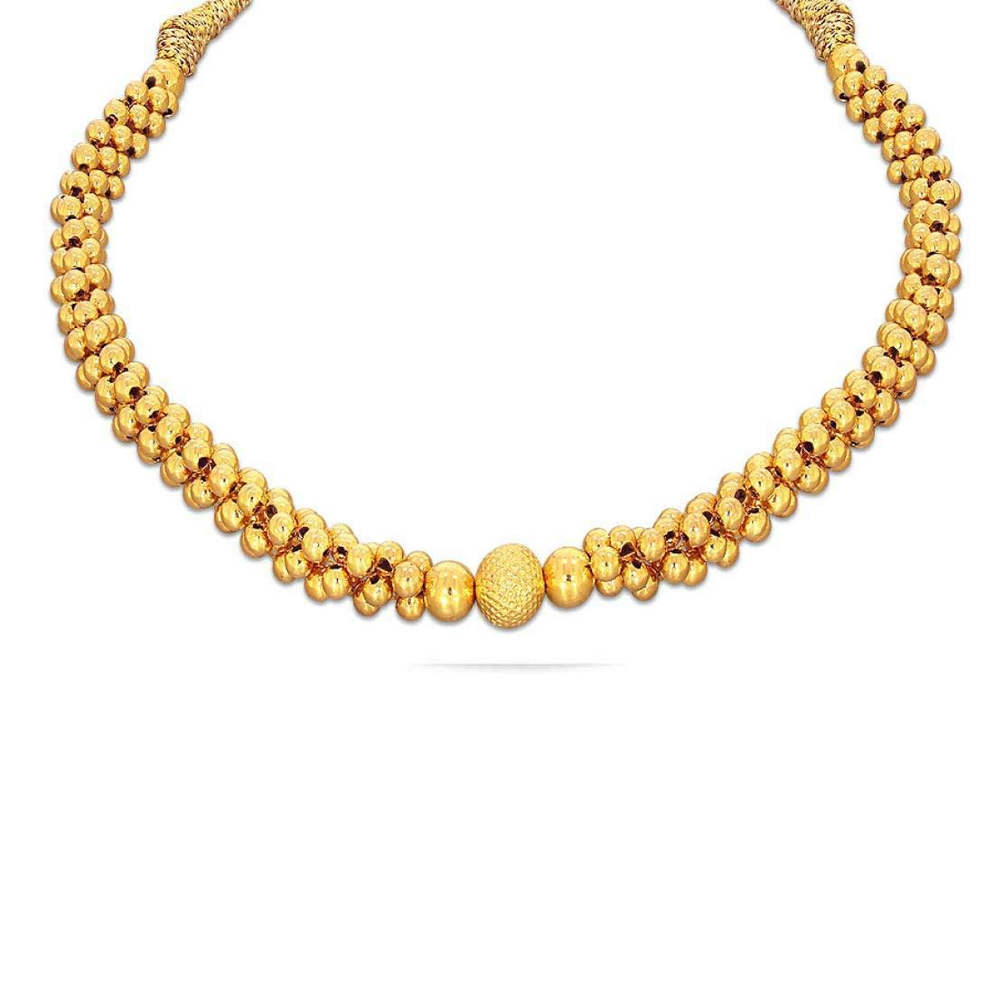 Candere By Kalyan Jewellers 22KT Yellow Gold Choker Necklace for Women