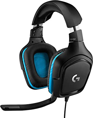 Logitech G432 Auriculares Gaming con Cable, Sonido 7.1 Surround, DTS Headphone:X 2.0, Transductores 50mm, USB y Jack...