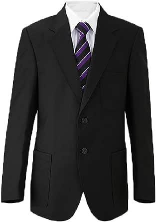 "Russell Mens Blazer Formal Dinner Jacket Jacket Black Dark Royal Navy Bottle Green Burgundy/Maroon Purple Slate Grey (Chest Sizes 34""-52"")"