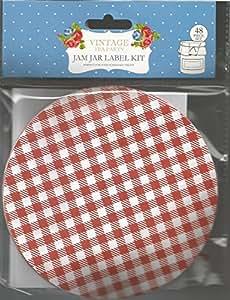 Rétro-pot de confiture décorer et Kit d'étiquettes (48 pièces)