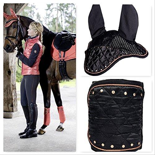 Streifen und Mütze anti-mouche Siena anthrazit Pferd