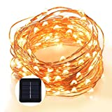Grefine 100 LED Solare Fata Luci Stellato Corda Luci, 40 Ft/ 12 METRI Dentro Fuori Impermeabile Rame Luci Wire Lighting Ambiance per all