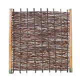 Haselnusszaun BALDO Stabil - Sichtschutz Naturzaun aus Haselnussholz (90 x 180 cm)