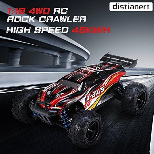 RC Auto kaufen Truggy Bild 3: VASCARS WJL00038 Maßstab 1:18 Flexibles 4WD RC Auto, Ready-to-Run Racing Buggy für Kinder & Erwachsene, 2,4 GHz Funkgesteuertes Fahrzeug mit 45 km/h Hochgeschwindigkeit, Rot*