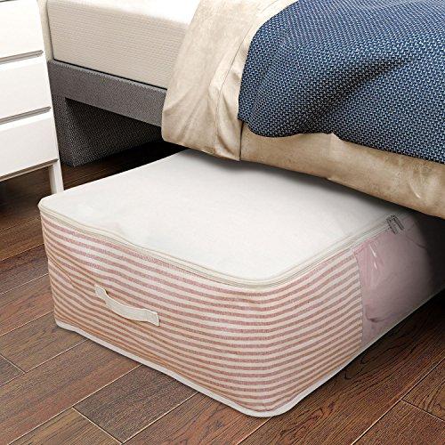 Lifewit 100l cesto sacco pieghevole pvc visibile per biancheria da letto, trapunta, coperta, cuscini, indumenti, vestiti