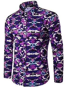 Hombres personalizada 3D solapa estampado de camuflaje camisa de manga larga de los hombres casuales camiseta...