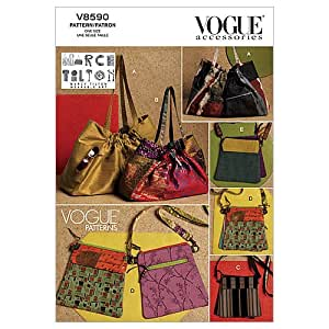 Vogue Patterns V8590 One Size Totes and Double Bags