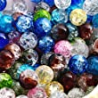 200X Perle en Cristal Crystal Verre Rond 8mm Multicolor