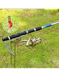 novecaps soporte para caña de pesca automático de acero inoxidable ajustable sensible ultraligero portátil accesorio fijación deporte ocio pesca para pescador amantes Iniciación