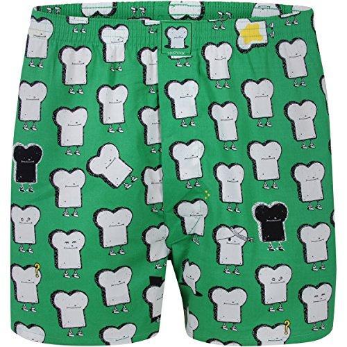 """LOUSY LIVIN Boxershorts """"Toast"""", grün Grösse XL"""