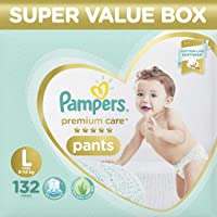 Pampers Premium Care Super Value box pack, Large, 132 Count