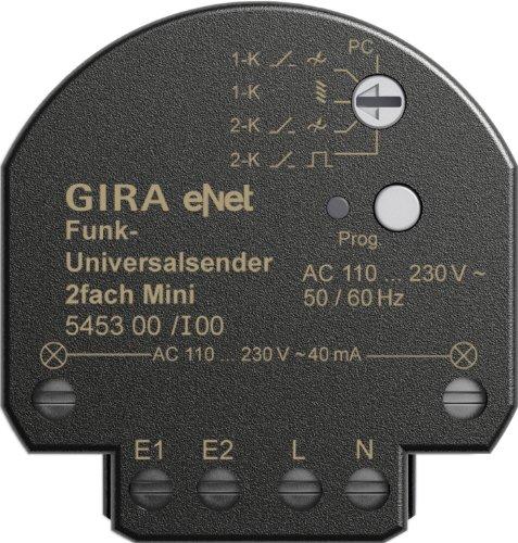Gira 545300 Funk Universalsender Mini 2-Fach Gira eNet