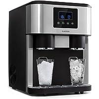 KLARSTEIN Eiszeit Crush - Machine à glaçons 3 en 1: glaçons, glace pilée, eau glacée, ice maker 2 tailles de glaçons, 15…