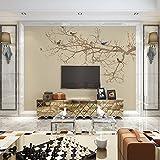 Tapete Experten der chinesischen TV-Hintergrund Wand Papier Tapete flower-and-bird Bedroom Living room3dthe Seamless, Video-Vogel-Dorn,