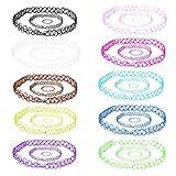 BodyJ4You aux femmes 30pc choker étirement colliers de tatouage au henné gothique bracelets et anneaux - ensemble de 10