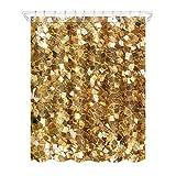 Shower Curtains Vorhänge Dusche Golden Glitzer 3D Digital Druck Polyester Gepolsterte Wasserdicht 180 * 180
