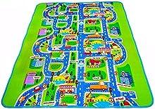MABOSHI - Alfombra infantil para jugar, diseño Ciudad