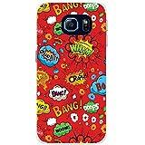 Comic-Aktionen Rot Wham Wow Boom Ouch Hartschalenhülle Telefonhülle zum Aufstecken für Samsung Galaxy S6 Edge (SM-G925)